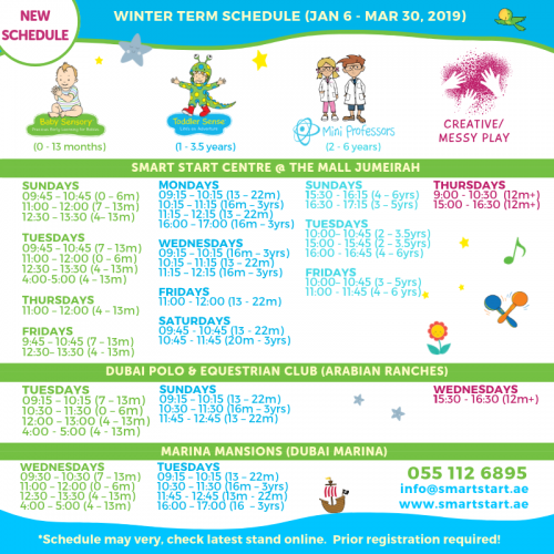 Winter Term Schedule